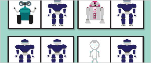 Robot Dominoes