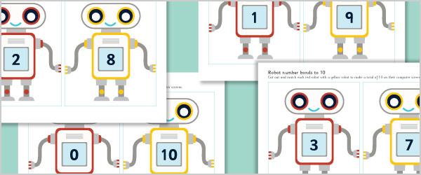 Robot Number Bonds to 10