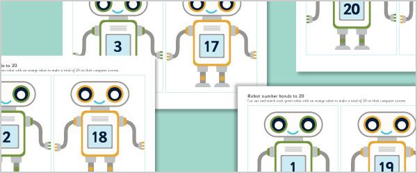 Robot Number Bonds to 20