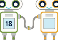 Robot Number Bonds to 20 Worksheets