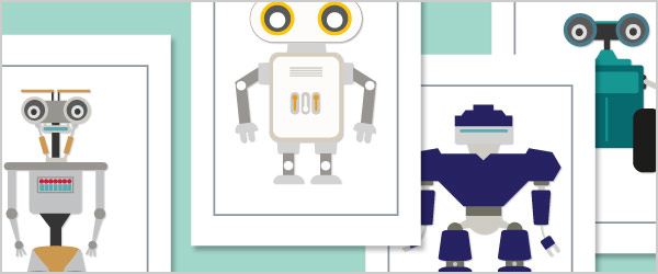 A4 Robot Posters
