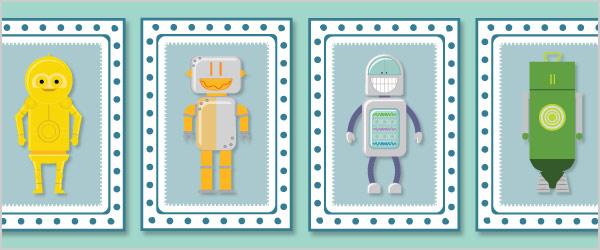 Robot Snap Cards / Matching Pairs