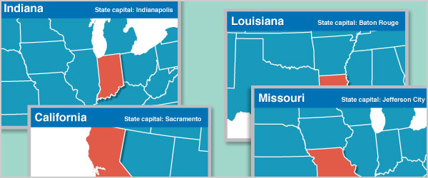 US States Flash Cards