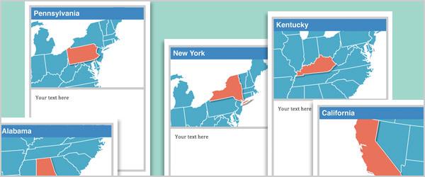 USA Editable Cards