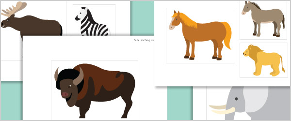 Animal Cut Outs for Size Sorting