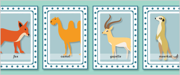 Animals Snap Cards with Words