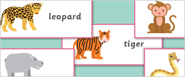 Exotic Animals Topic Cards