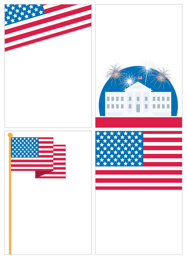 Independence Day Notepaper