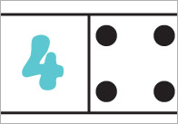 Numbers and Dots Dominoes