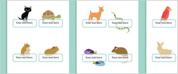 Pets Self-Registration Labels