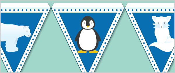 Polar Animals Bunting