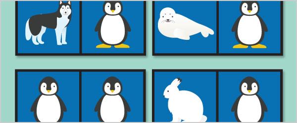 Polar Animals Dominoes