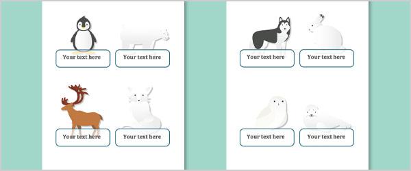 Polar Animals Self-Registration Labels