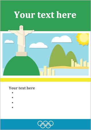 Rio Olympics 2016 Editable Poster
