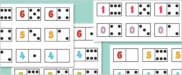 Small Numbers and Dots Dominoes