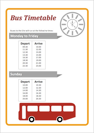 Bus Station Timetable