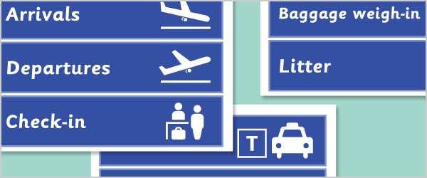 Airport Role Play Sign