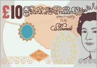 British Currency Editable Labels