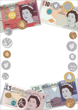 Editable British Currency Notepaper