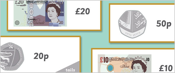 British Currency Topic Cards