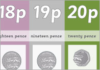Coin Number Tracks To 20p (UK)