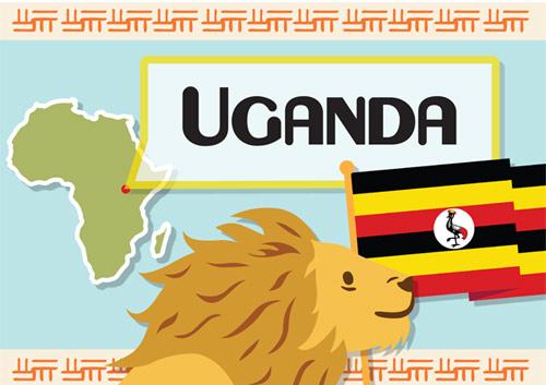 Uganda A4 Display Poster