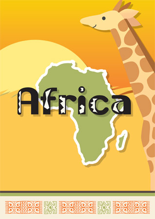 Africa A4 Poster