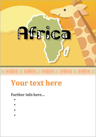 Africa Editable Poster