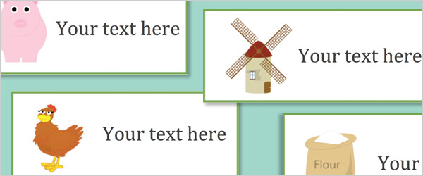 Little Red Hen Editable Labels
