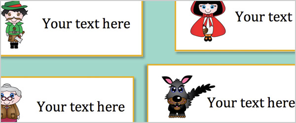 Little Red Riding Hood Editable Labels
