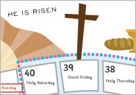 Lent Colouring Activity / Calendar