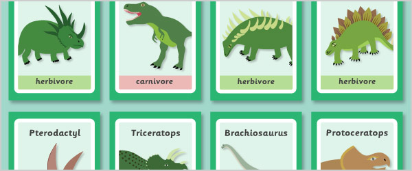 Feeding Dinosaurs Target Game (herbivores and carnivores)