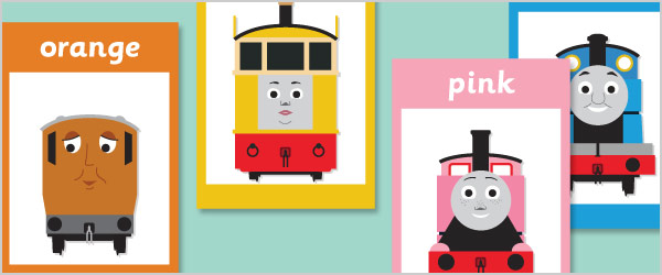 Train Themed Colour Posters