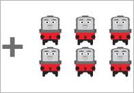 Trains Addition Worksheet