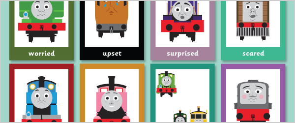 Train Themed 'Emotion Cards'