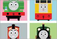 Editable Train Poster