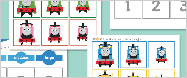 Train Size Sorting Game