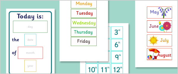 EYFS Daily Calendar - Simplified Version