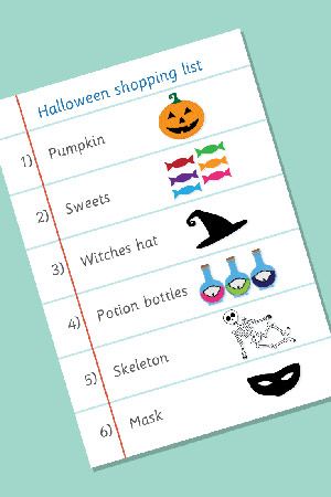 Halloween Role-Play Shopping List
