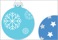 Christmas Bauble Flash Cards - Counting / Estimating Activity
