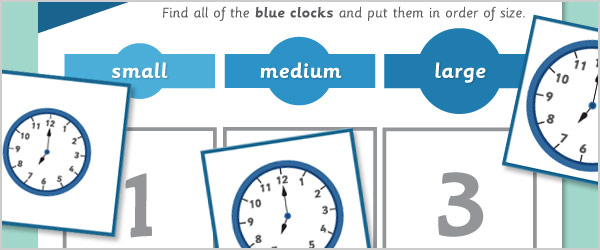 Clocks Size Sorting Game