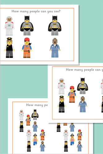 Brick People Counting / Estimation Posters