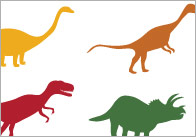Counting / Estimation Flash Cards - Dinosaurs