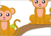 Estimating / Counting Monkeys Flash Cards