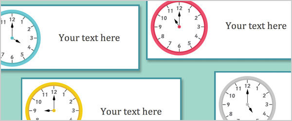 Editable Clock Labels