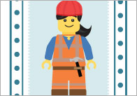 Brick People Snap Cards / Matching Pairs