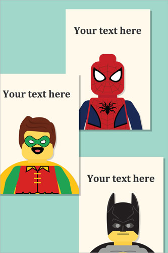 Editable Superhero Prints