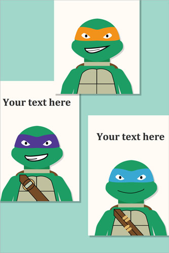 Editable Turtles Prints