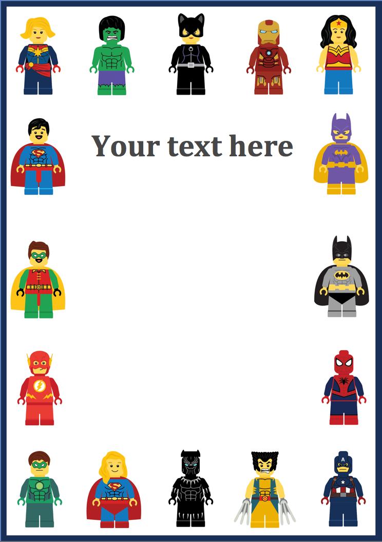 Superhero Editable Notepaper