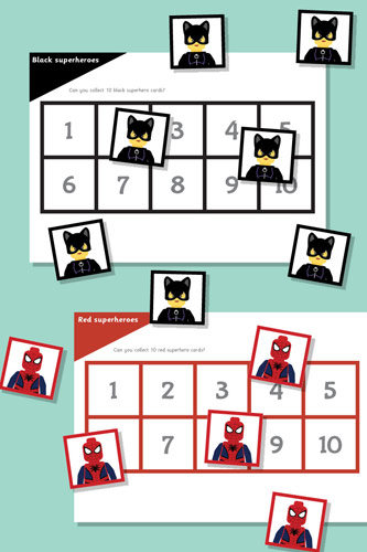 Superhero Maths Game: All About 10